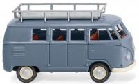 Wiking 078810 VW T1a Bus mit Gepäckträger taubenblau