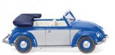 Wiking 079404 VW Käfer 1200 Cabrio blau/silber