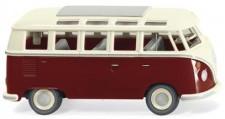 Wiking 079722 VW T1/2b Sambabus purpurrot/cremeweiß