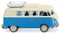 Wiking 079733 VW T1/2c Campingbus perlweiß/blau