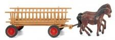 Wiking 089302 Holzleiterwagen m. Pferd