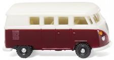 Wiking 093202 VW T1/2b Bus - weinrot/weiß