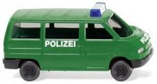 Wiking 093507 VW T4 Bus Polizei minzgrün
