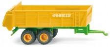 Wiking 095502 Joskin Universalstreuer-Anhänger gelb
