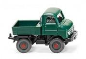 Wiking 097204 MB Unimog U411 Pritsche grün