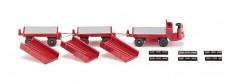 Wiking 116003 Still Elektrokarren mit 2 Anhängern rot