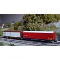 Trains 160 16032 SNCF EVS ged. Güterwagen-Set 2-tlg. Ep.4