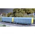 Trains 160 16052 SNCF EVS ged. Güterwagen-Set 2-tlg. Ep.5