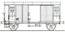 MW-Modell N-CH-420b SBB gedeckte Güterwagen-Set 2-tlg Ep.3