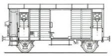 MW-Modell N-CH-420c SBB gedeckte Güterwagen-Set 2-tlg Ep.4