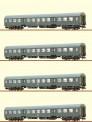Brawa 65122-25 DR Personenwagen Set 4-tlg Ep.4