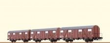 Brawa 67803 DB gedeckter Güterwagen-Set 3-tlg Ep.3