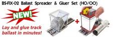 PROSES PBS-FIX-02 Ballast Spreader & Gluer Combo Spur H0