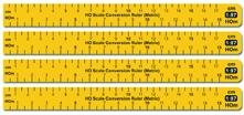 PROSES PPR-CR-87M Umrechnungslineal für Baugröße 1:87