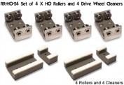 PROSES PRR-H0-04 Rollböcke 4 Stück Spur H0/00