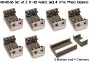 PROSES PRR-H0-06 Rollböcke 4 Stück Spur H0/00