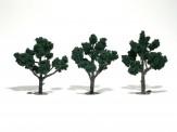 Woodland WTR1511 Laubbäume dunkelgrün 5-12 cm, 3 St.