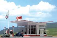 Busch 1005 ESSO Tankstelle 50er Jahre ab Ep.3