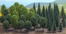 Busch 6591 Mischwald, 50 Bäume