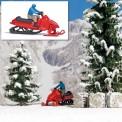 Busch 7818 A-Set:Motorschlitten  H0