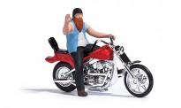 Busch 7861 US Motorrad mit Biker