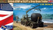 Gecko Models 35GM0018 British ATMP w/SLLPT & Drop Drum Trailer