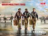Glow2B 32104 ICM:USAAF Pilots (1941-1945) (3 figures)