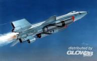 Glow2B 7632562 X-15A-2  with Dummy Scramjet