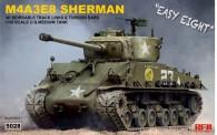 Rye Field Model RM-5028 Sherman M4A3E8 w/ workable track links