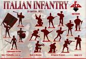 Red Box RB72099 Italian Infantry. Set 1. 16 centry
