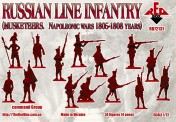 Red Box RB72131 Russian line infantry(Musketeers)1805-08