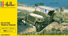 Heller 79997 Willys MB Jeep & Trailer