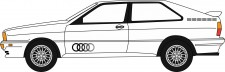 Oxford 76AQ002 Audi Quattro Alpine White
