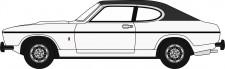 Oxford 76CPR003 Ford Capri MK II weiß/ Dach schwarz