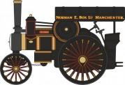 Oxford 76FOW005 Fowler B6 16263 1925 Road Locomotive