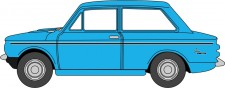 Oxford 76HI004 Hillman Imp Middle Blue