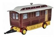Oxford 76SCV001 Showmans Caravan Maroon