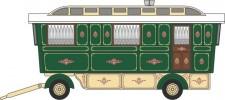 Oxford 76SCV002 Schausteller Caravan