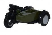 Oxford NBSA005 BSA Motorrad mit Beiwagen British Army