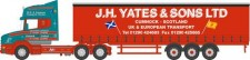 Oxford NTCAB008 Scania T Cab Curtainside J H Yates & Son