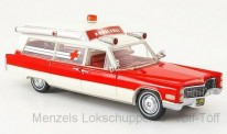 NEO NEO43898 Cadillac S & S Ambulance rot/weiß
