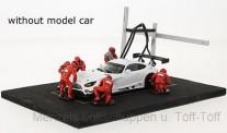 IXO Modelle FIG001SET Set Pit Stop rot 6 Figuren mit Decals