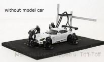 IXO Modelle FIG003SET Set Pit Stop schwarz 6 Figuren mit Decal