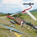 Busch Autos 01154 Anhänger m. Segelflugzeug rot