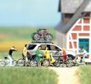 Busch Autos 06013 Zweirad-Set m. Fahrrädern und Vespa