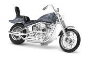Busch Autos 40157 Harley Davidson Motorrad graumetallic