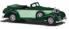 Busch Autos 41316 Horch 853 Cabrio mit Koffer grun/beige
