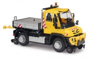 Busch Autos 50924 MB Unimog U 430 Zweiwegefahrzeug gelb