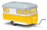 Busch Autos 51701 Wohnwagen Nagetusch gelb