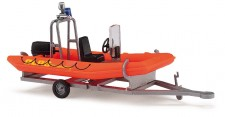 Busch Autos 59951 Anhänger mit Motorboot DLRG